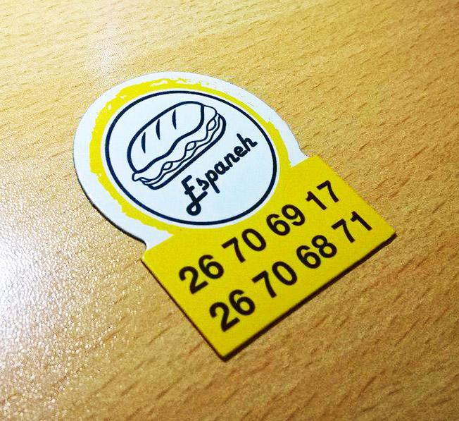 کد 723 نمونه کارت ویزیت آهنربایی