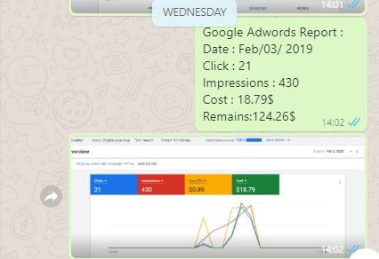 نمونه گزارش گوگل ادوردز