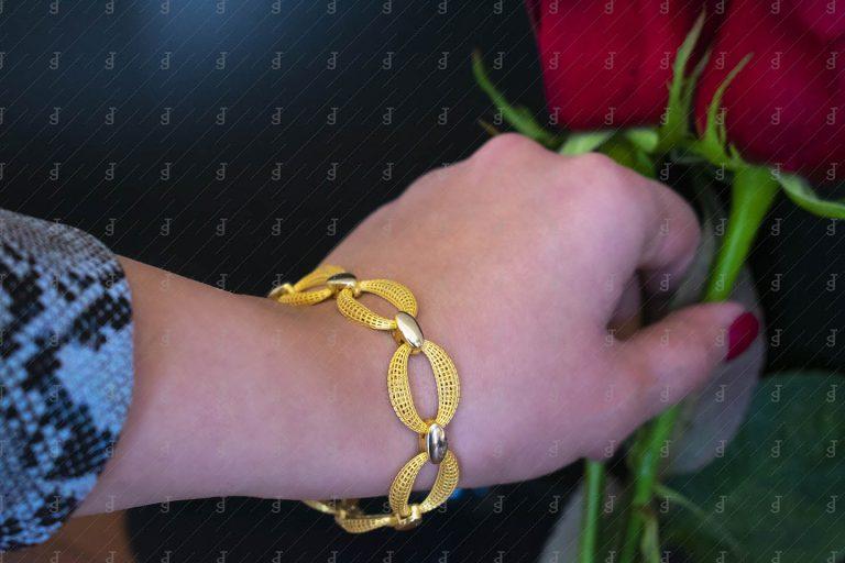 عکاسی دستبند طلا